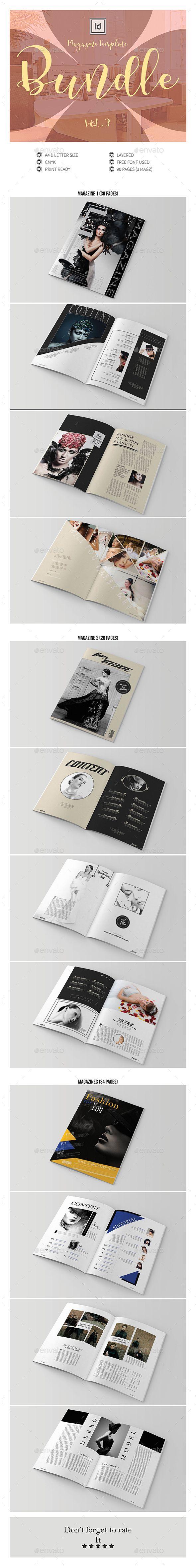 Multipurpose InDesign Magazine Template Bundle V.3 | Indesign ...