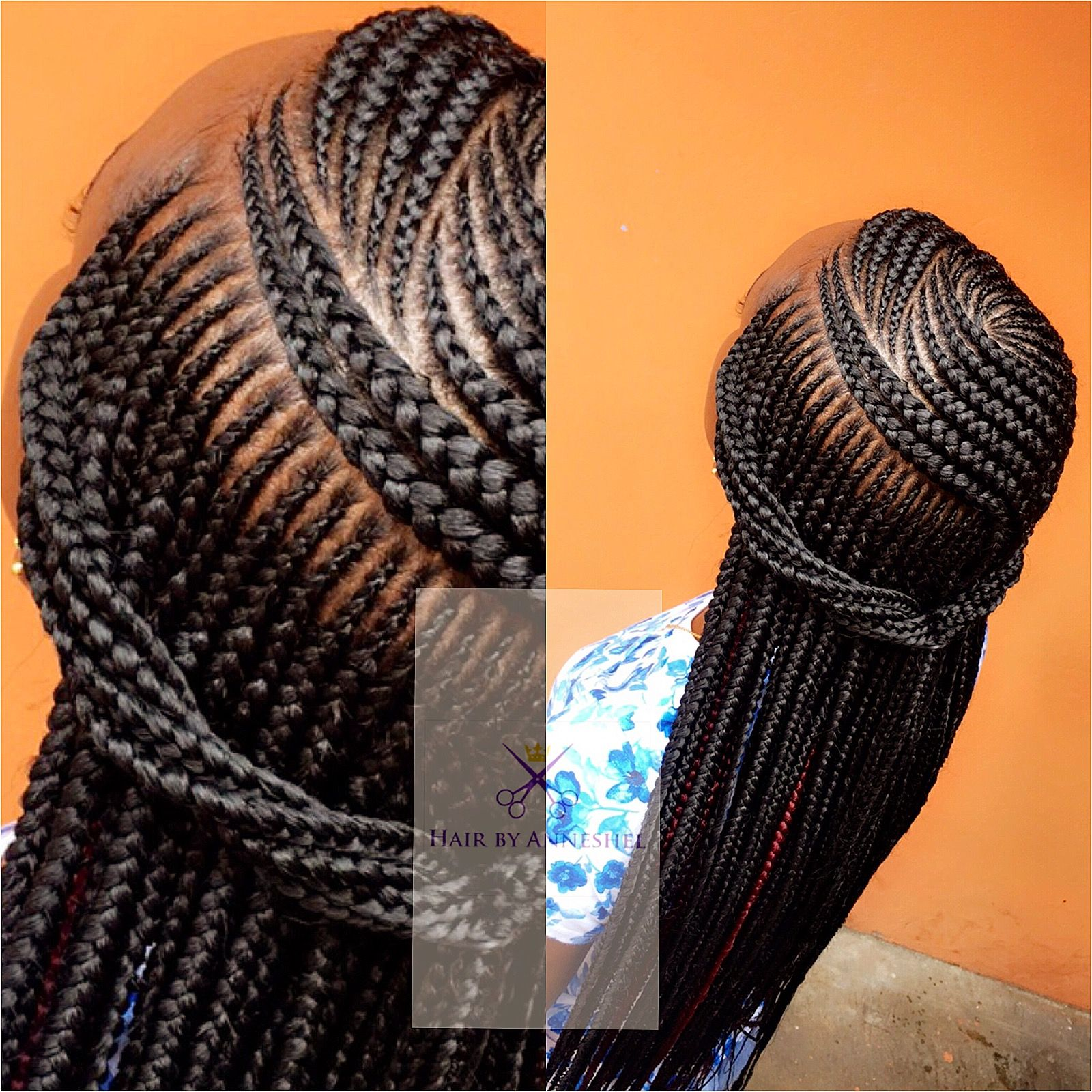 Neat Unique Cornrows African Braids Hairstyles Hair