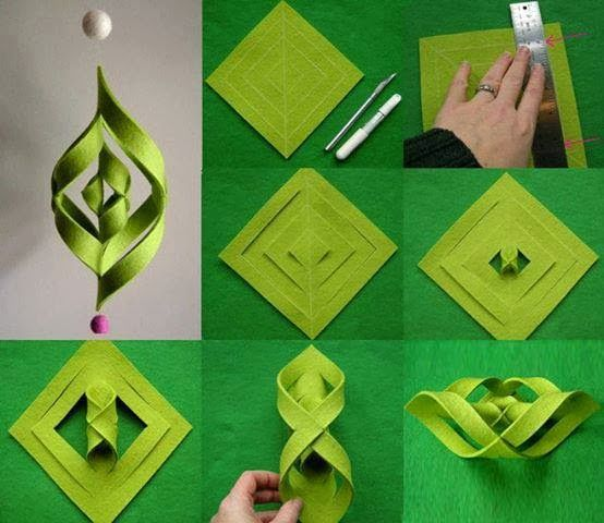 Una locura de ideas Girnalda de papel fieltro o goma eva paso a