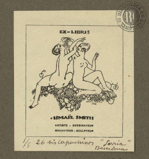 Ex-libris Ismaël Smith :: Materials gràfics (Biblioteca de Catalunya)