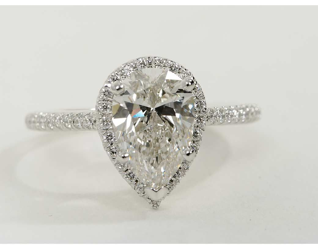2 51 Carat Diamond Pear Shaped Halo Engagement Ring Recently Purchased Blue Nile