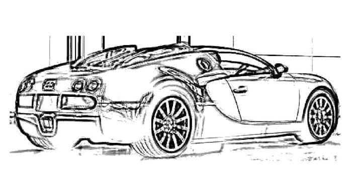 bugatti veyron 06 electronic coloring page