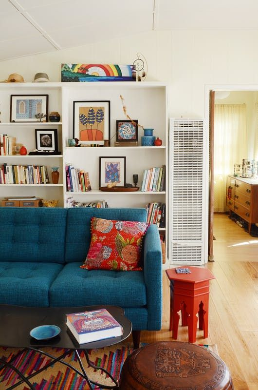 Learn The Tricks To Adding Color When You Can T Paint From This Rainbow Bohemian Rental