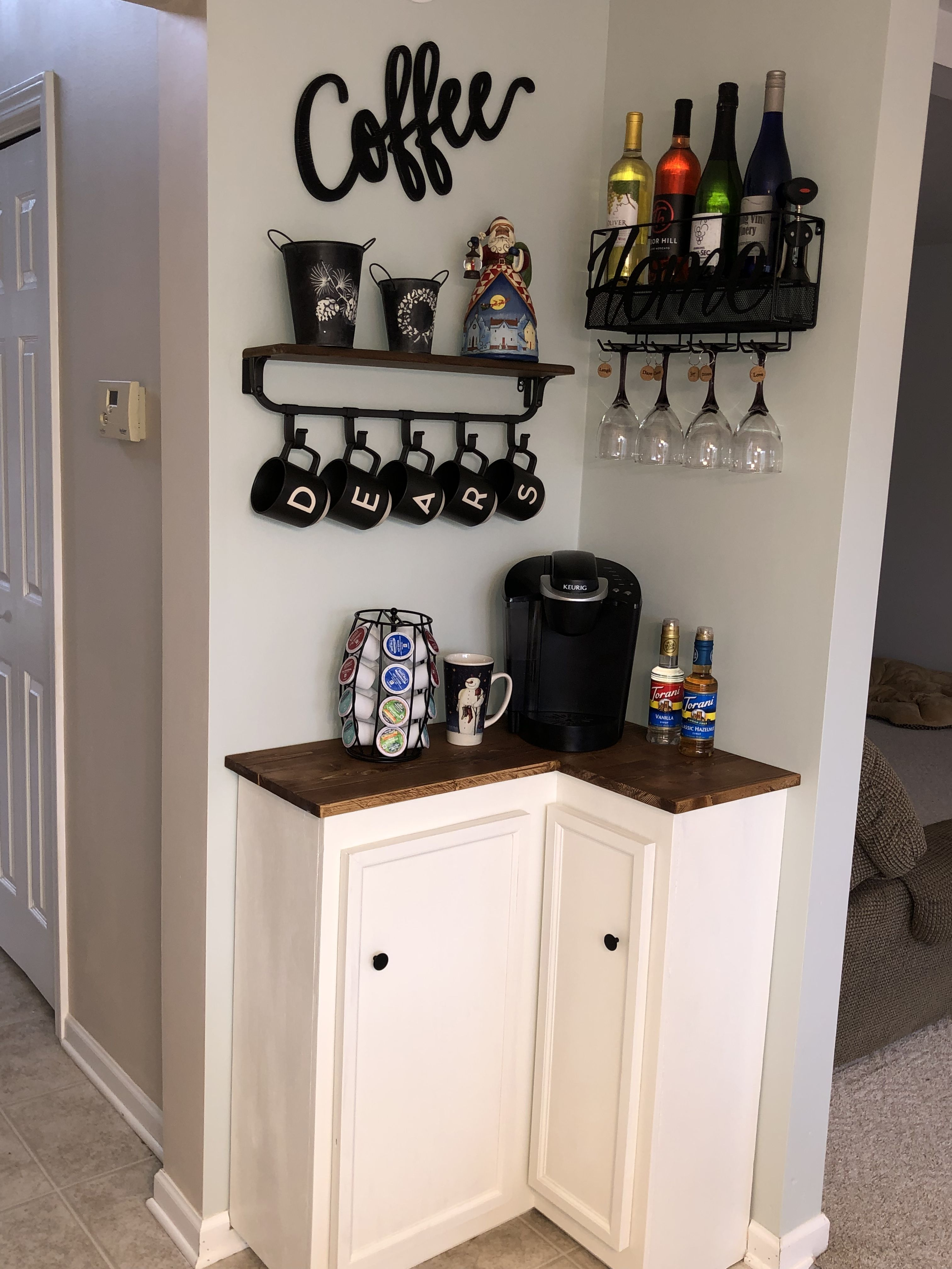 Coffee Corner Bars For Home Coffee Bar Home Small Apartment Decorating