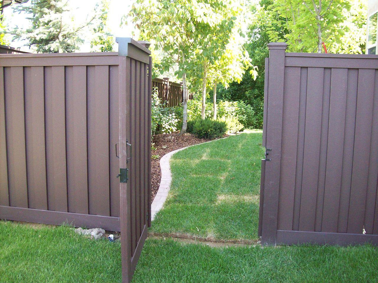 Brown Vinyl Fence Trex Fencing Trex Fencing Cost Ma