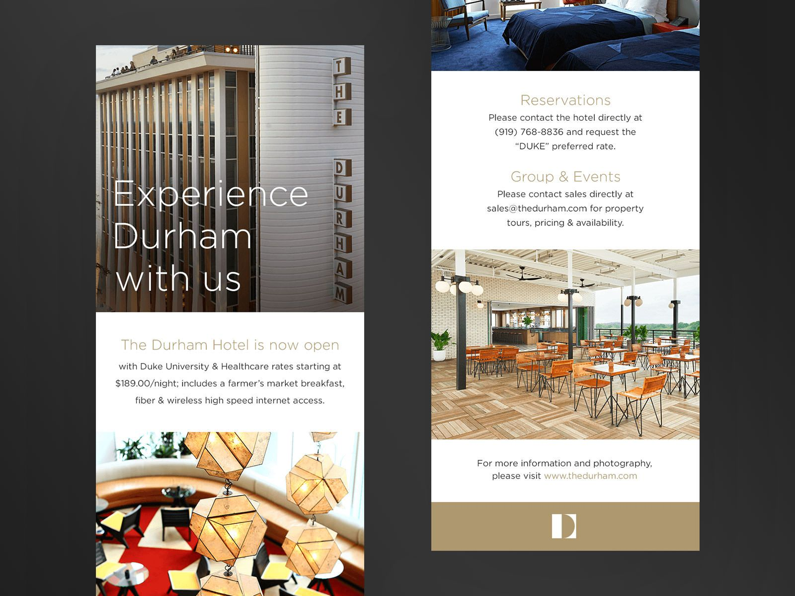 The Durham Hotel Email Marketing By Mrc Raleigh Durham Hotel Hotel Durham
