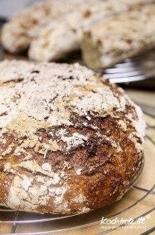 Quinoa-Sonnenblumen-Sauerteigbrot glutenfrei | KochTrotz - Food - und Reise Blog mit Rezepten für Gluten-Unverträglichkeit, Fructose-Intoleranz, Laktose-Intoleranz, Histamin-Intoleranz, Zöliakie, Sorbit-Intoleranz, vegan, vegetarisch, Fisch, Fleisch