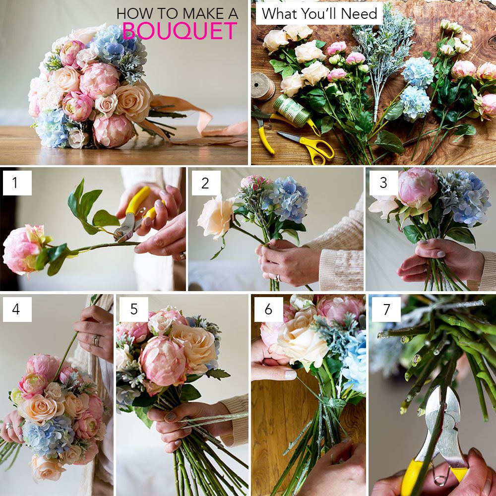 How To Make A Bouquet 2016 Pantone Color Silk Flowers Flower