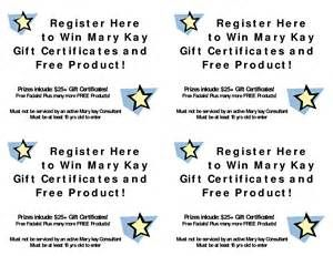 register here to win mary kay gift certificates and mary kay