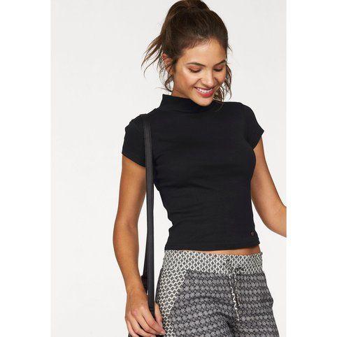 T-shirt court manches courtes col montant femme AJC   Shirts, Polos ... 465d44928daf