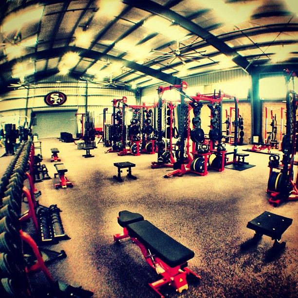 The Niners New Weight Room Where Beasts Are Made Gym Plan Gym Design Fitness Center Gym