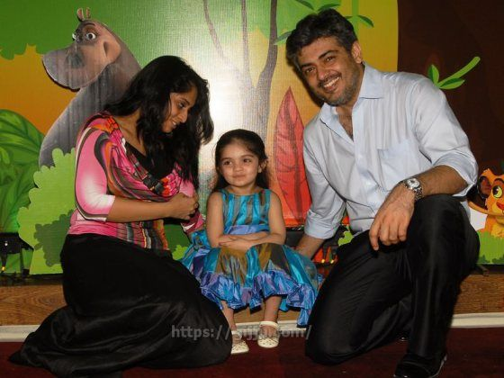 Actress Ajith salini family photos