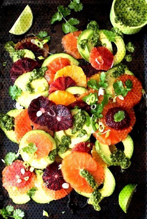Orangen Avocado Salat Rezept mit Koriander Limetten Dressing • CiaoFlorentina Orangen Avocado Sal