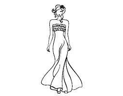Dibujos de vestidos de novia para colorear