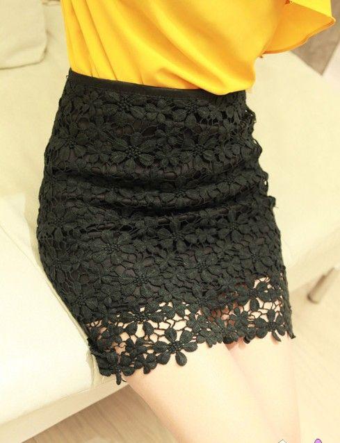 Resultado de imagen para Faldas con encajes