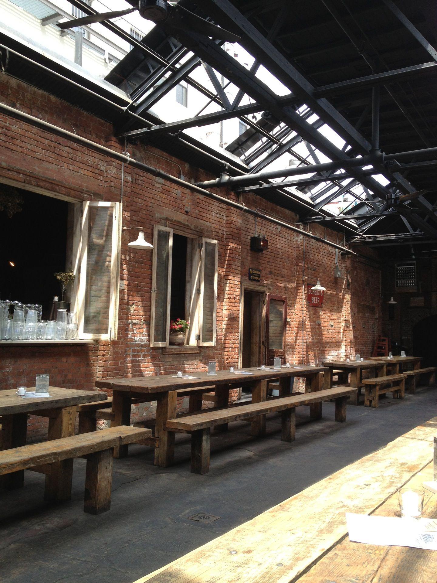 Williamsburg beer hall | Taproom | Pinterest | Hall, Bricks and House