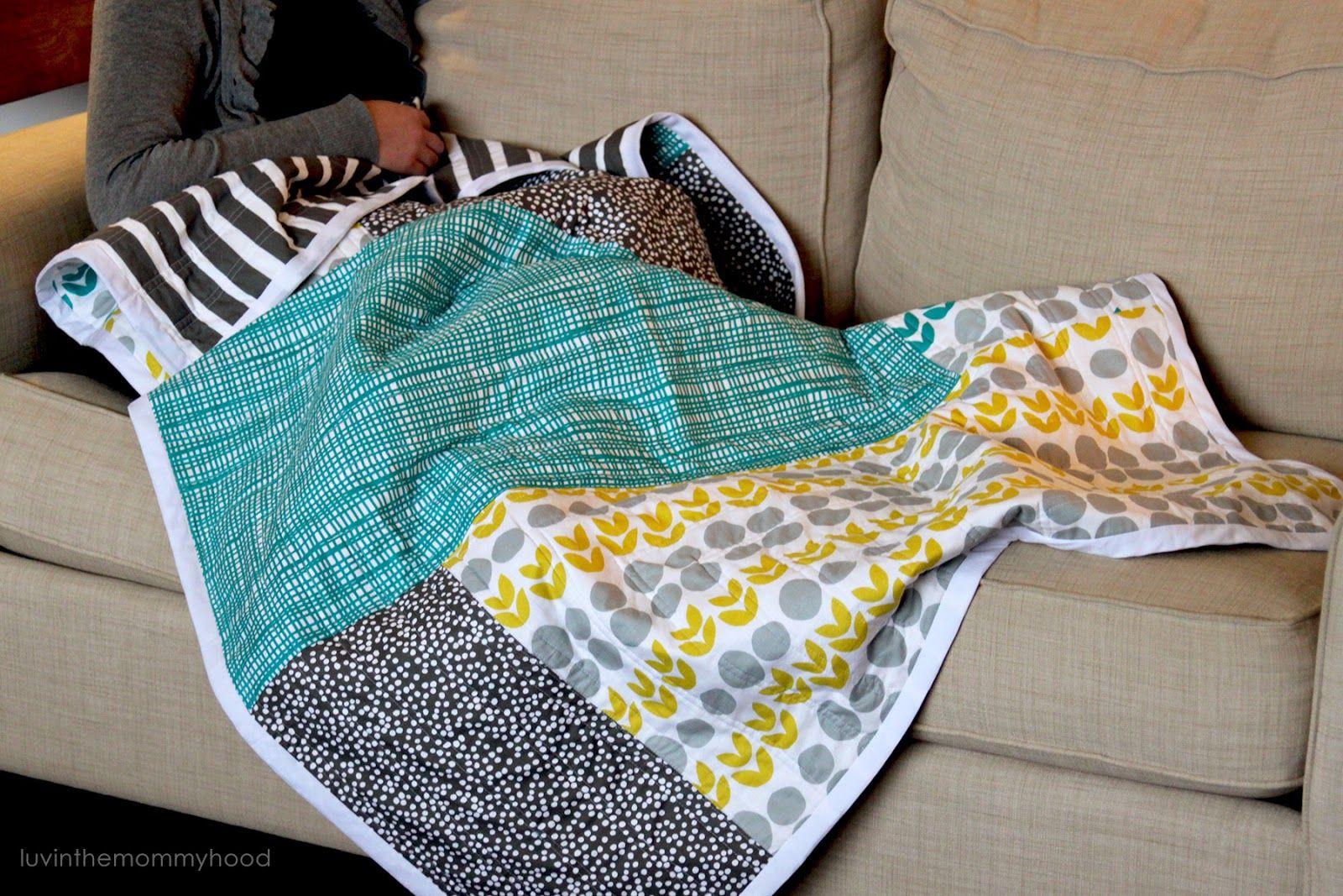 luvinthemommyhood: Bella Collage Quilt Tutorial; Lotta Jansdotter fabric