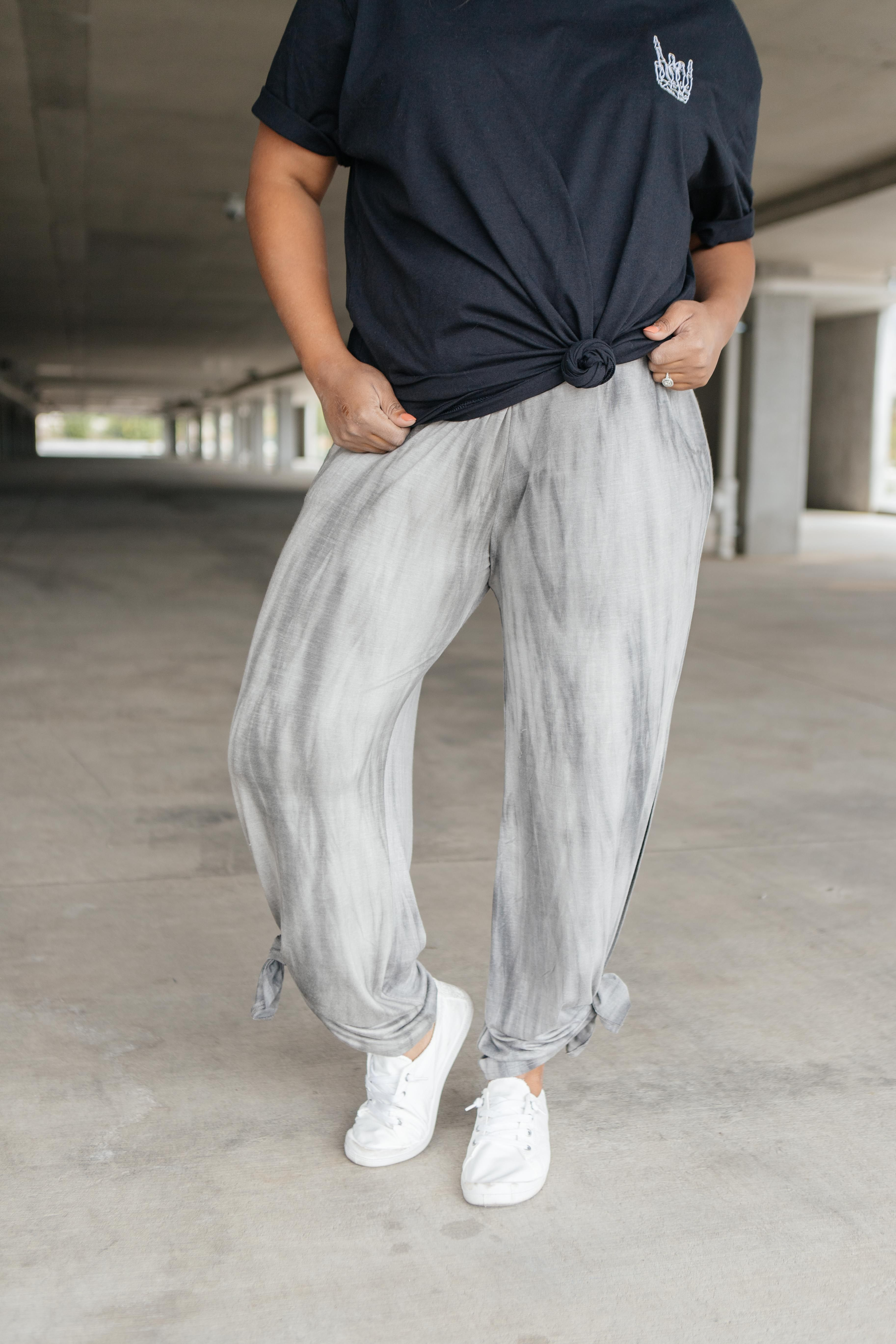 These pants are so soft and stretchy it's almost criminal. They feature the cutest adjustable ties at each hem and a stretchy waistband. They're perfect for the beach, the airport, a picnic, or even just hanging out around the house! LightweightStretchyAdjustable Ties At Hem Pockets95% Rayon 5% Spandex Fits True To Size Made In USA*Measurements listed below are of the actual clothing item.* XS: Waist 28