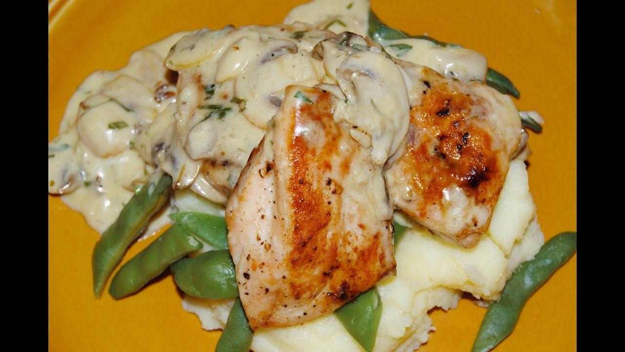 صدور الدجاج مع صلصة الفطر Chef Ahmad Allcooking Chicken With Mushroom Sauce Youtube Cooking Chicken Mushroom Chicken