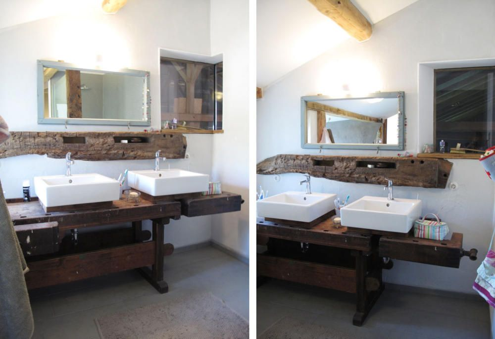 Hellweg badezimmermöbel ~ Alte werkbank als waschtisch alte werkbank waschtisch und alter