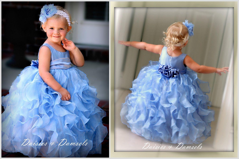 ca78dfd2745 Periwinkle blue flower girls dress