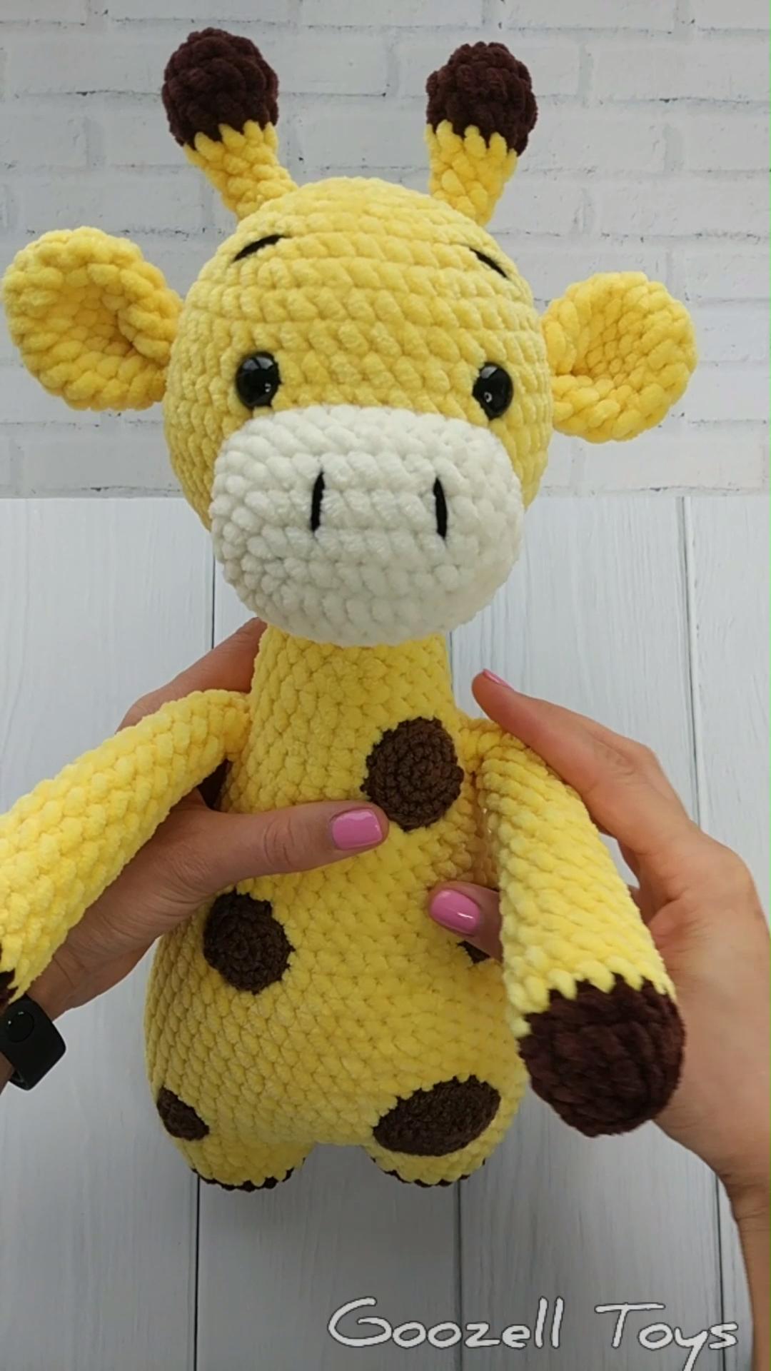 AMIGURUMI Giraffe pattern, Crochet giraffe toy PDF pattern, Knit Stuffed Toys, Plush Giraffe pattern