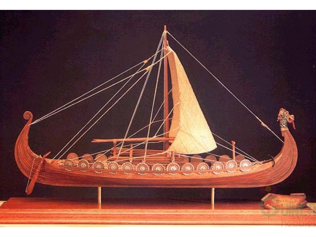 how to make a wooden viking ship model