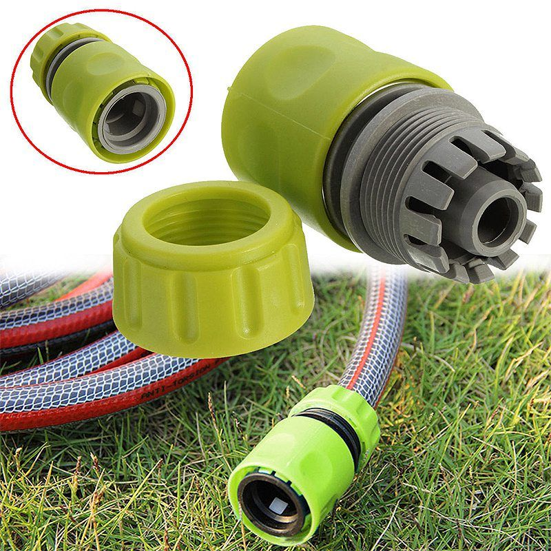 New Green 1 2 Inch Quick Connector Fits Female Water Tube Hose Pipe Tap Adaptor Garden Lawn Garden Watering Accessory Water Hose