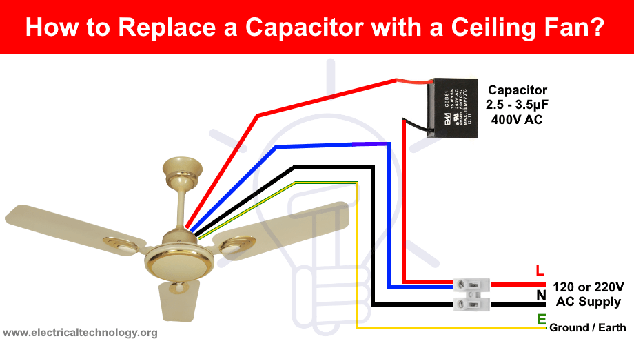 How To Replace A Capacitor In A Ceiling Fan  3 Ways