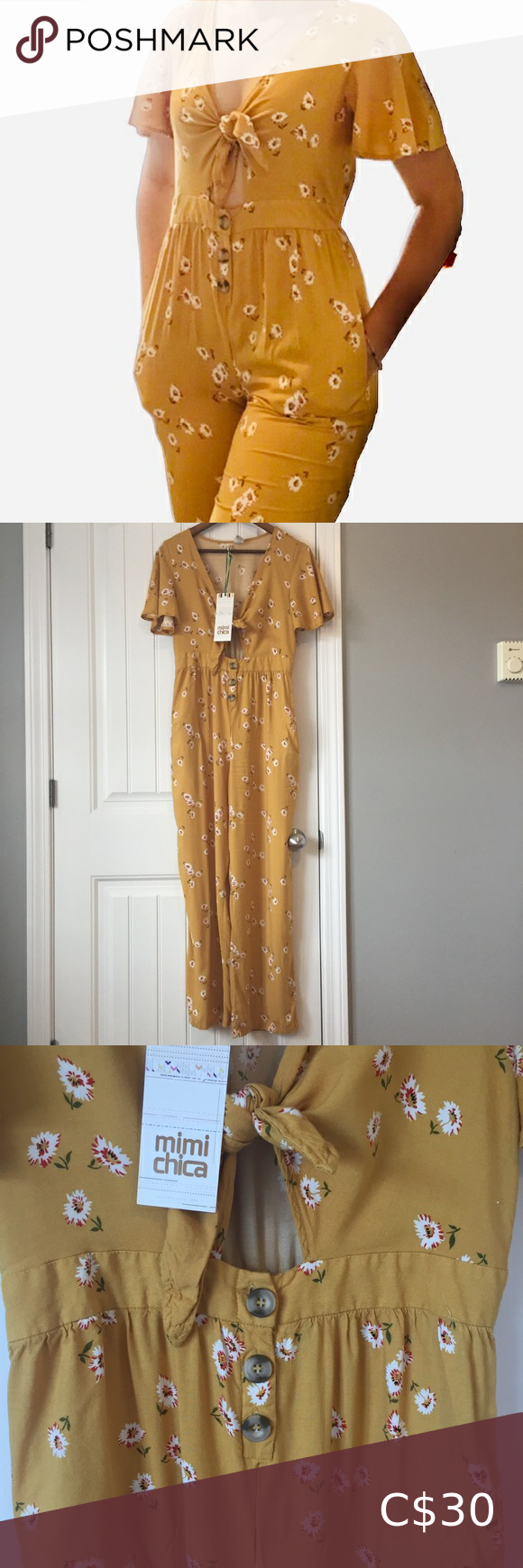 NWT Mimi Chica Floral Jumpsuit