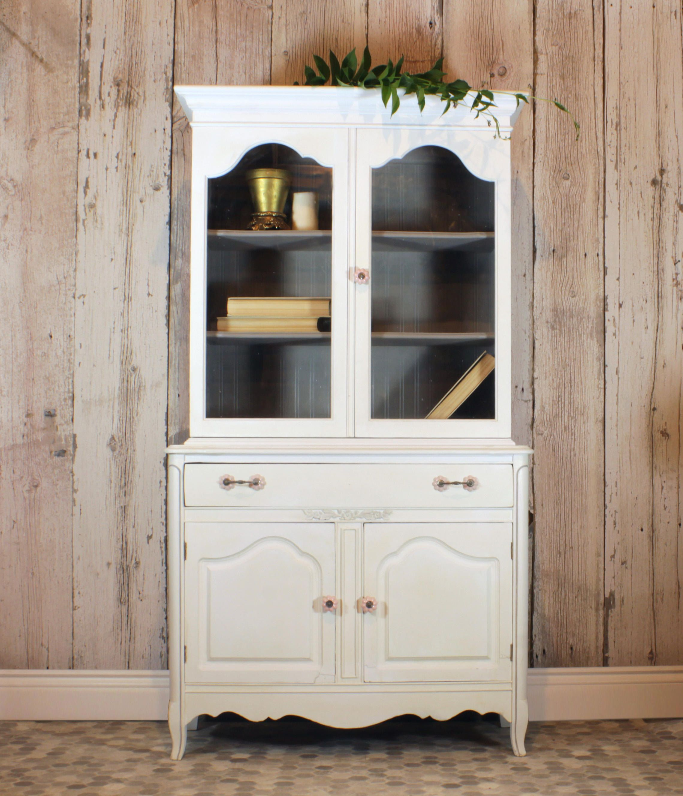beadboard chalk cabinet grey antique hutch on backing stepback pin paint country by murphyrdinteriors