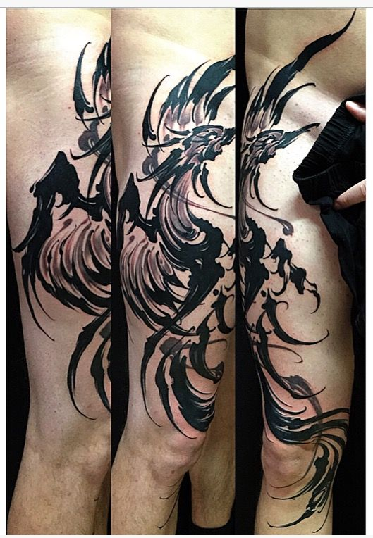 Amsterdam Tattoo1825 Kimihito Brush Stroke Tattoo Phoenix Netherlands Japanese Tattoo Artist Amsterdam Tattoo Tattoos Tattoo Artists