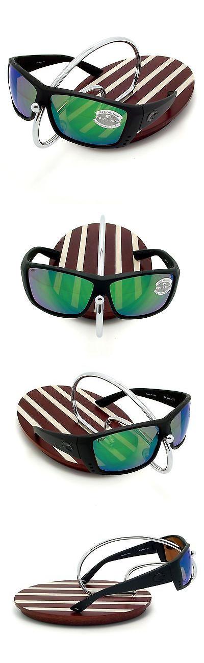 ac07a1a56ed Sunglasses 151543  New Costa Del Mar Cat Cay Blackout 580 Green Mirror  Plastic 580P -