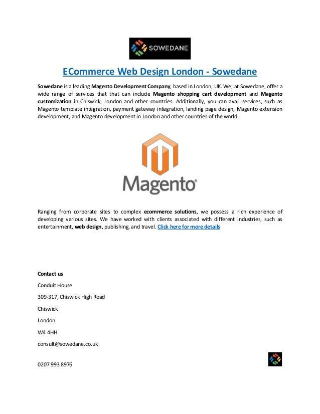 Pin by Sowedane UK on Magento Ecommerce Agency London