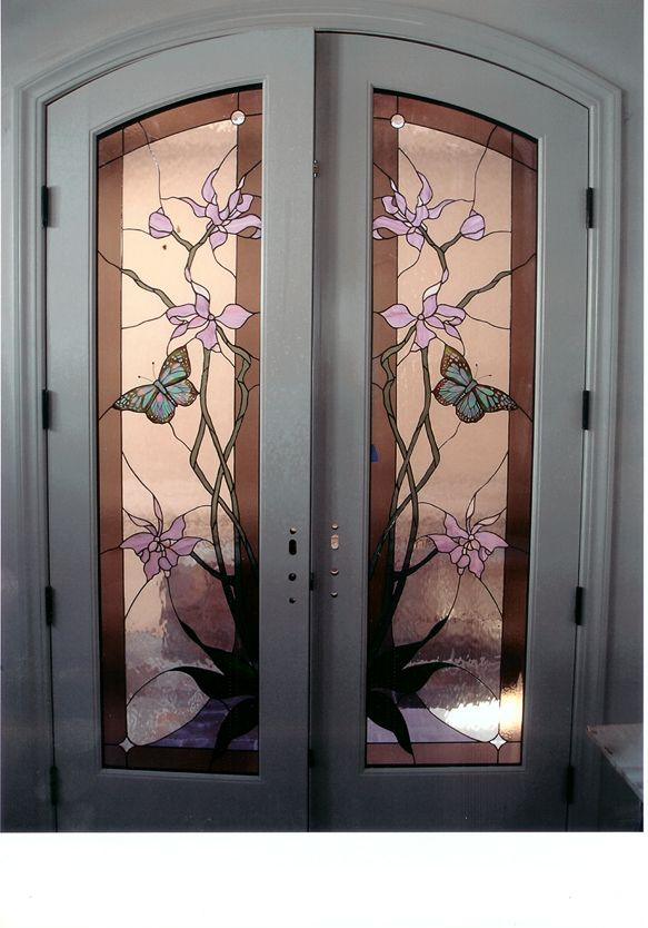 stained glass front entry door with side panels stained glass gallery joanne 39 s stained glass. Black Bedroom Furniture Sets. Home Design Ideas