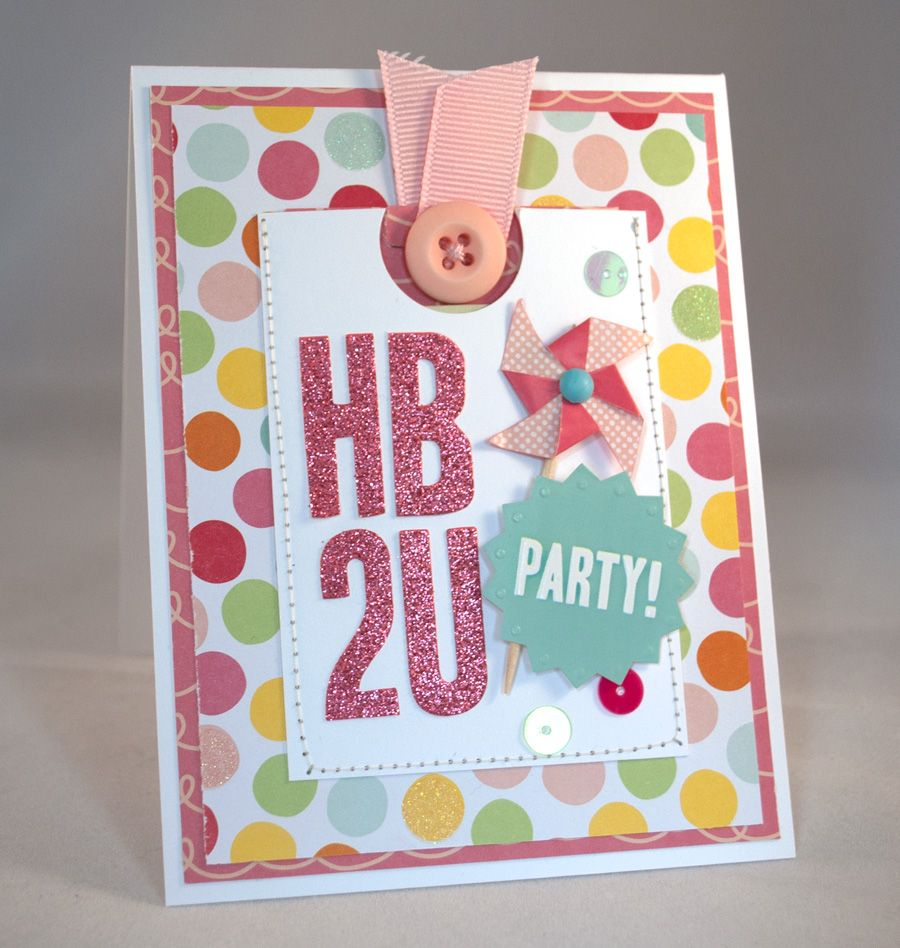 How To: Happy Birthday card with pull-out money holder - by Ashley Stephens using Hip Hip Hooray by Pebbles Inc.