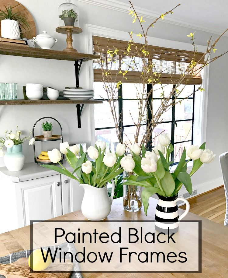Change up the look in any room of your house with painted black window frames