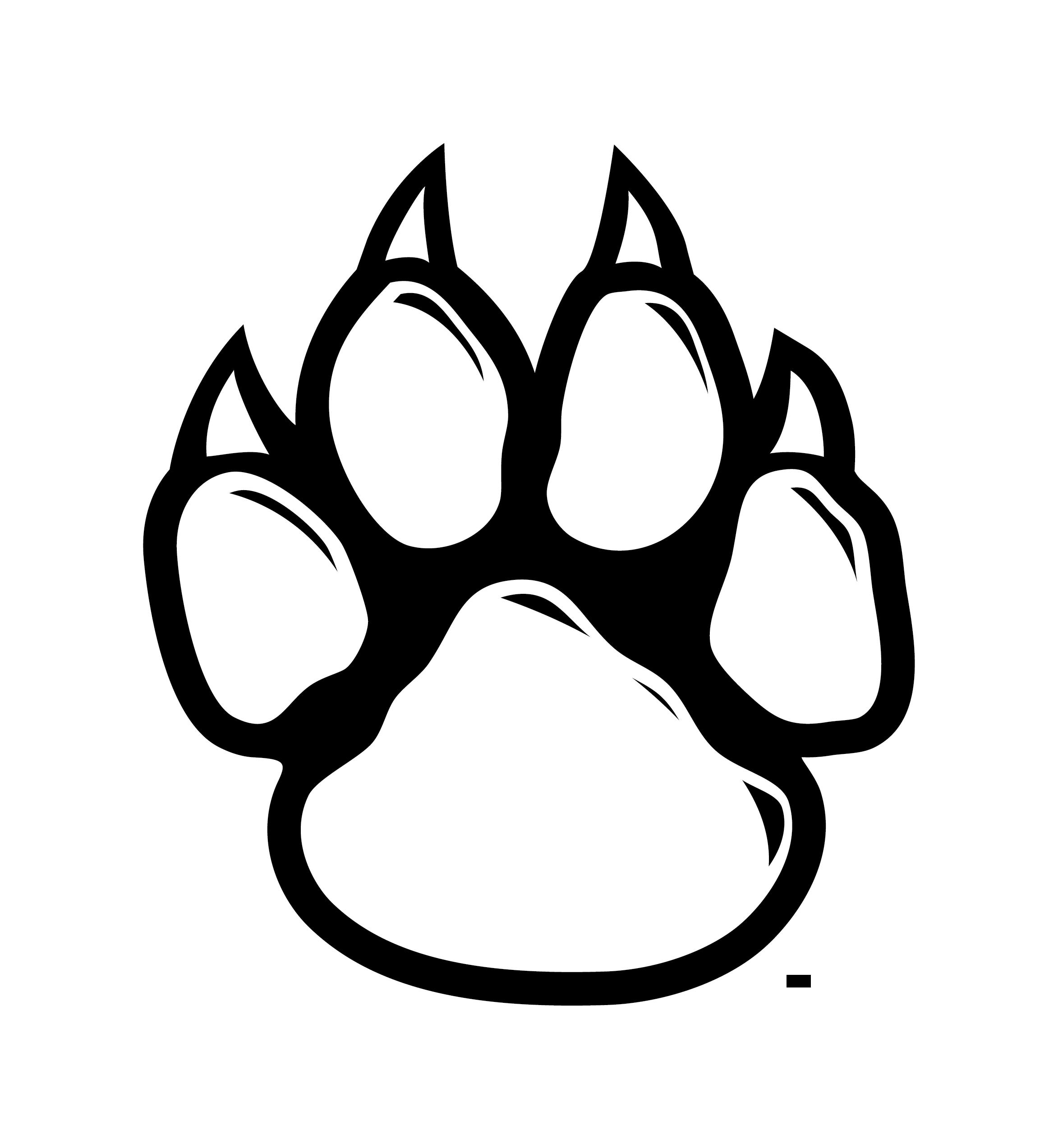 Wolf Paw Print Clip Art