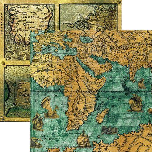 Reminisce buccaneer bay collection 12 x 12 double sided paper reminisce buccaneer bay collection 12 x 12 double sided paper pirate maps gumiabroncs Image collections