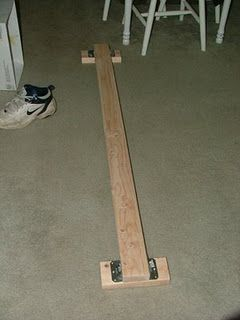 Make Your Own Folding Up Balance Beam Fits In The Closet