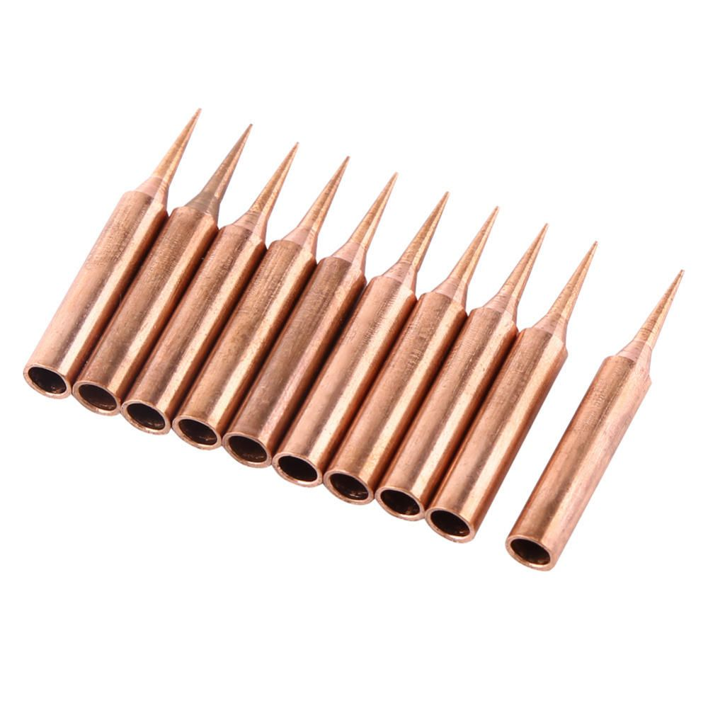 10pcs 900mt pure copper iron tips soldering tips for