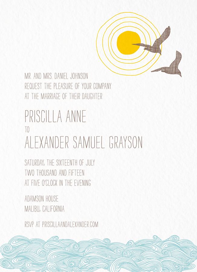 Seagulls Invitation card by Hello!Lucky on Postable.com