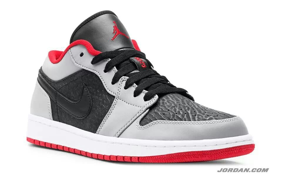 online retailer f6bd5 6b4f7 Jordan 1 low gray on elephant print