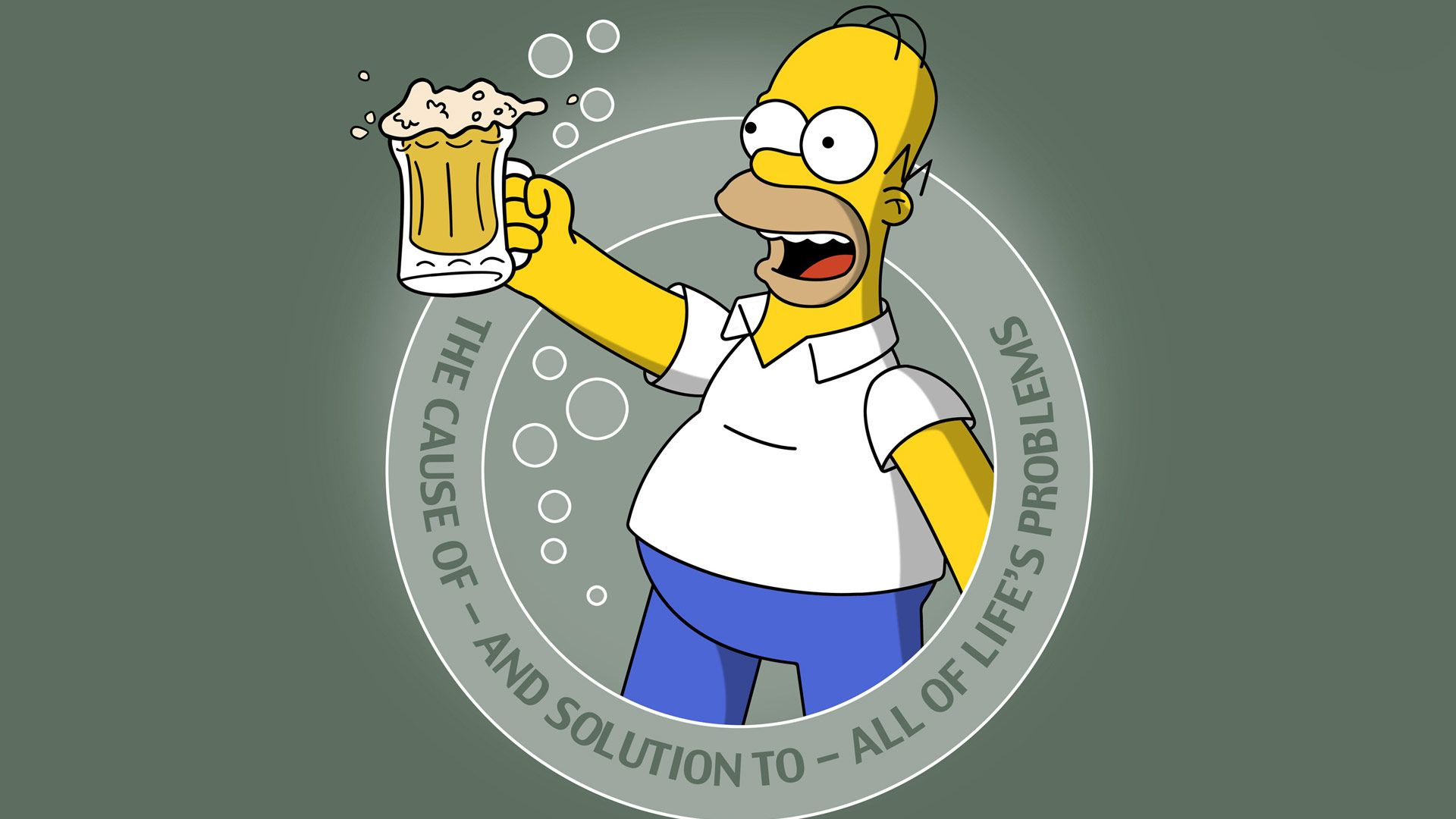 Homer Simson And Beer Friend