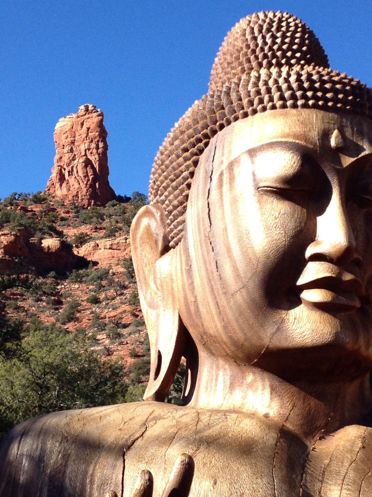 Red Rock Buddha at Buddha Beach - Sedona, Arizona | Buddha ...