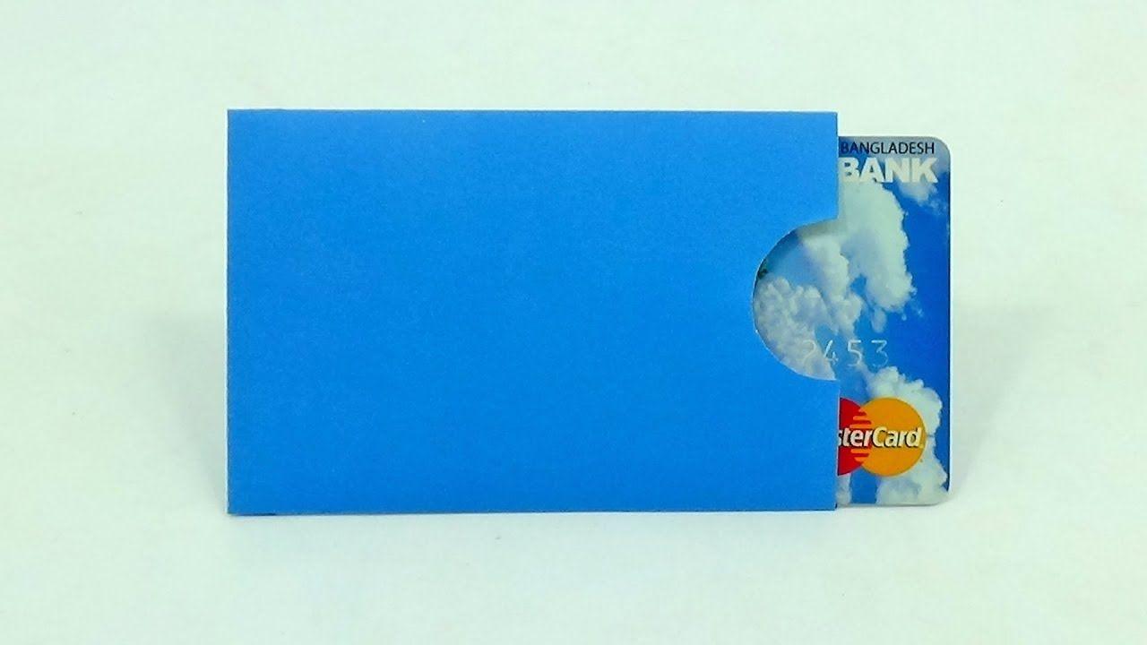 How To Make Paper Credit Card Holder Diy Credit Debit Card Sleeve Maki Credit Card Holder Diy Card Holder Diy Credit Card Envelope