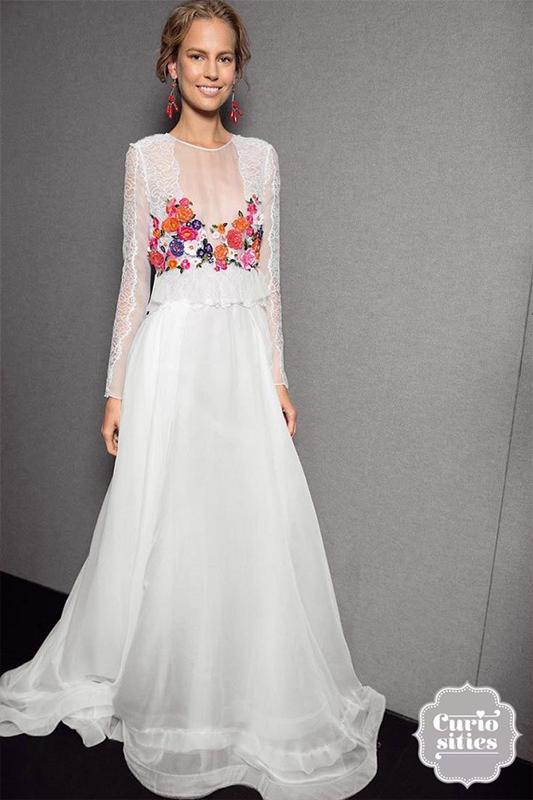 ideas vestidos de novia para boda mexicana | bordado | pinterest