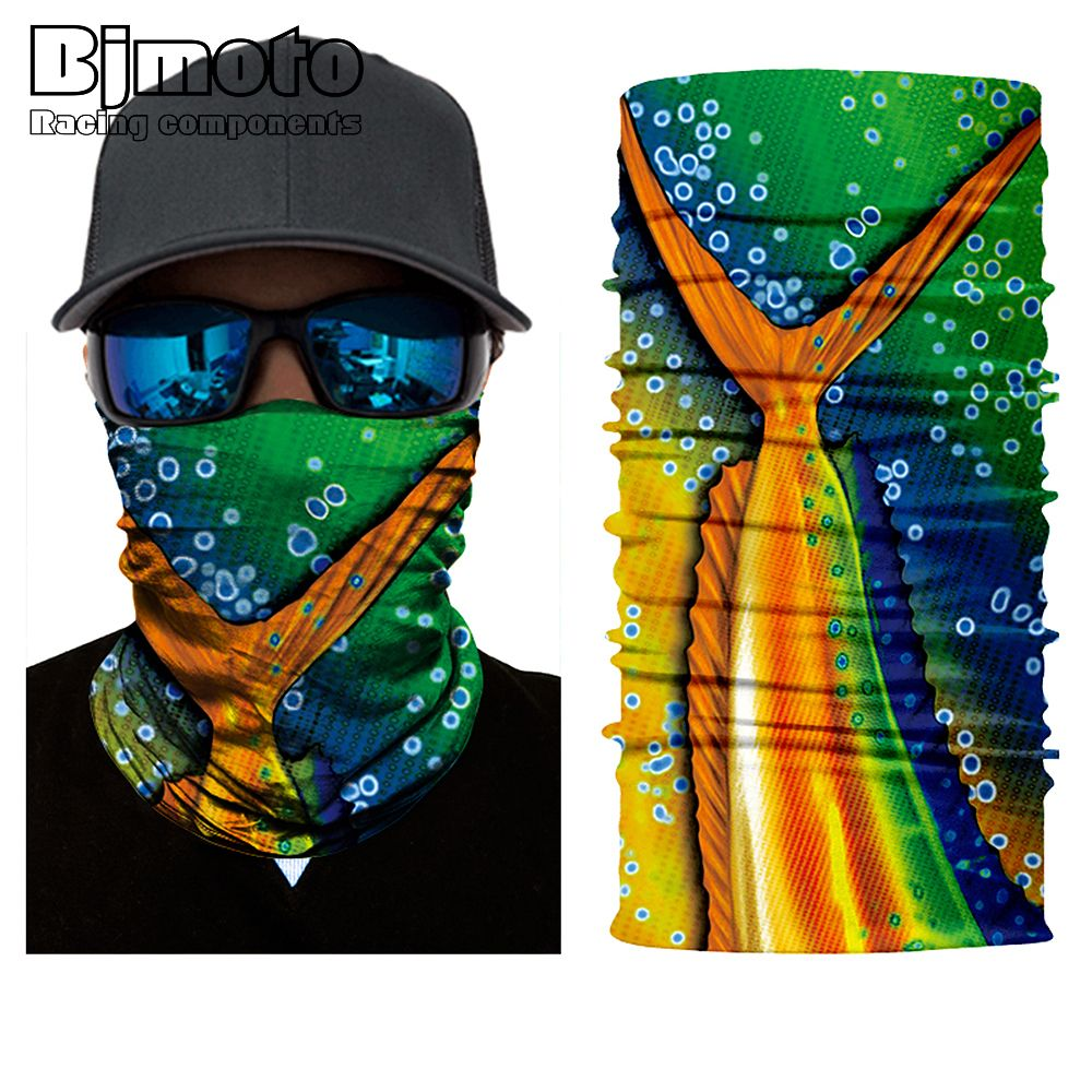 Cool Fire Orange print on Black BANDANA Head wrap Hiphop Biker scarf