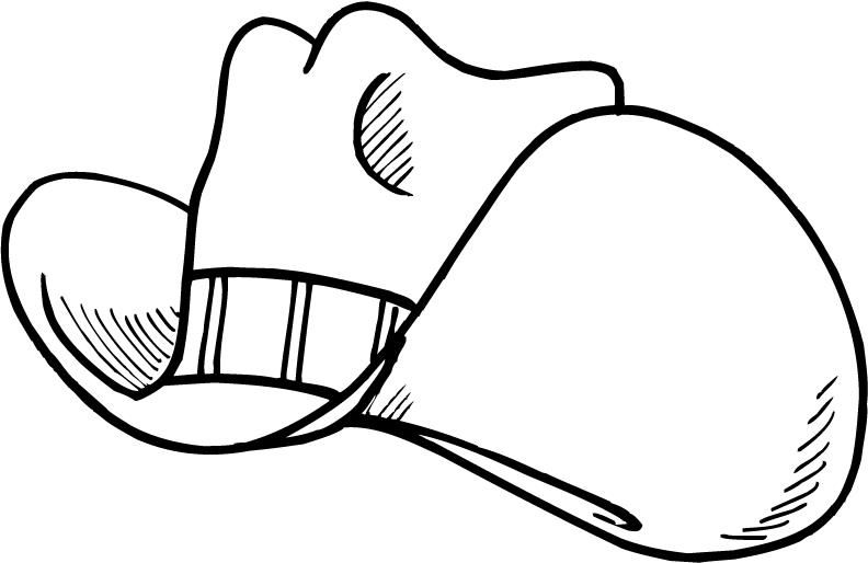 Baseball Cap Coloring Page - ClipArt Best | Holiday Shows | Pinterest