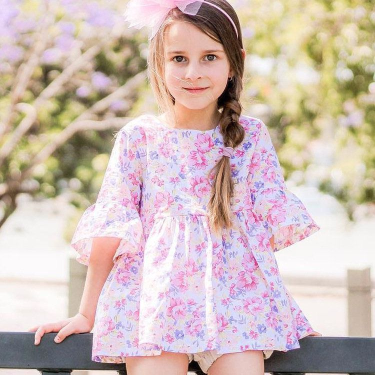 b9ad3cc5b46f0 Floral Girls Casual Dresses Party School Spring Summer Autumn Dress Kids  Clothing On Sale - NewChic